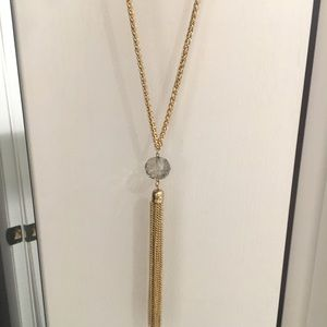 Jewelry - Gold tassel long necklace
